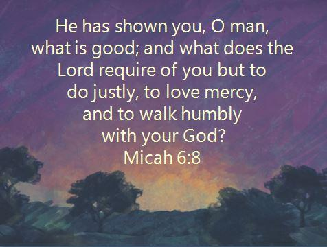 Image result for Micah 6:8