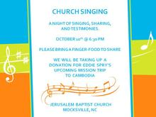 Church Singing 10-10-14